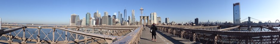 Panorama von der Brooklyn Bridge aus